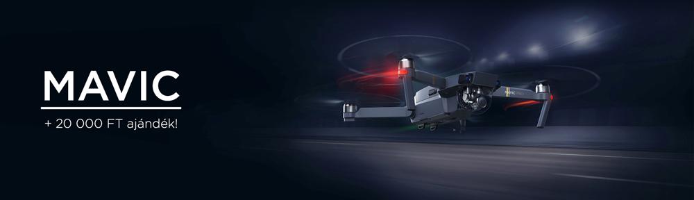 Vásárold meg nálunk vadonatúj Mavic Pro drónod, és válassz mellé bármit 20 000 Ft értékben! Fly More csomag vásárlása esetén még 5 000 Ft-ot levásárolhatsz!