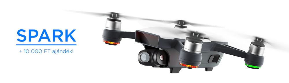 Vásárold meg nálunk vadonatúj Spark drónod, és válassz mellé bármit 10 000 Ft értékben! Fly More csomag vásárlása esetén még 5 000 Ft-ot levásárolhatsz!