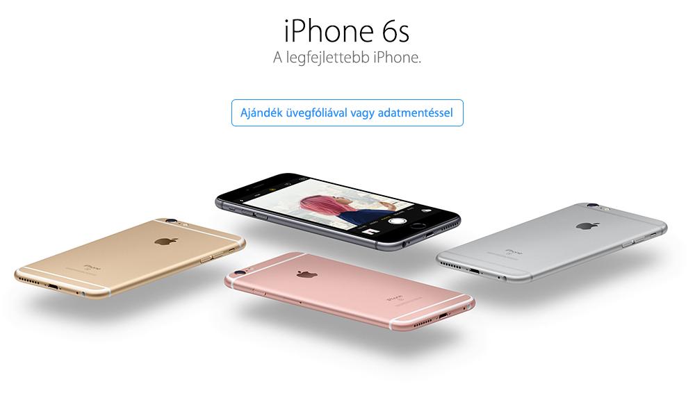 iPhone 6s vásárlása a legjobb áron, ajándékkal!