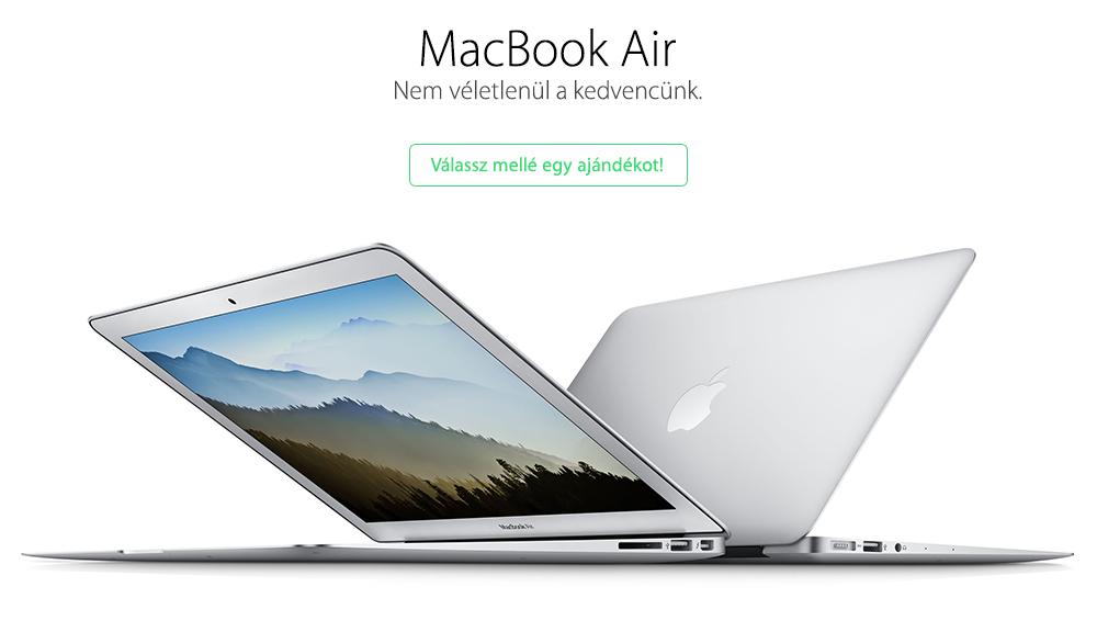 MacBook Air vásárlása a legjobb áron, ajándékkal!