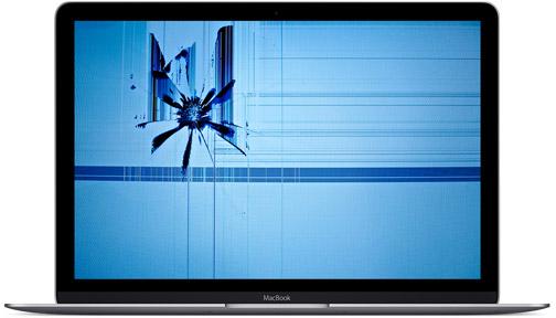 Repedt, törött kijelzős MacBook Air