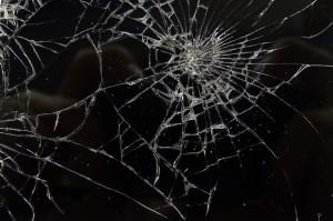 Pókhálós iPhone kijelző