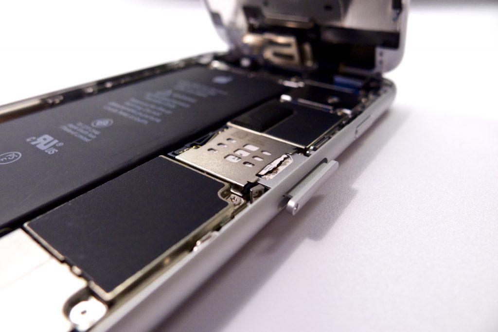 A SIM fiók belső vázszerkezete