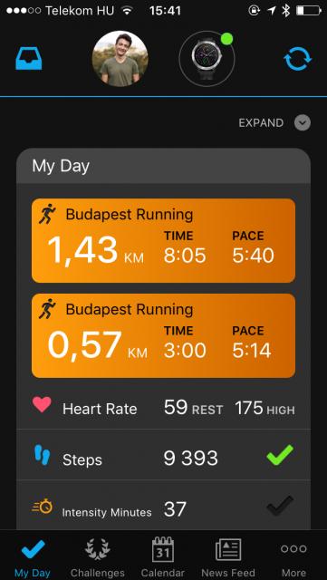 A Garmin vívoactive 3 aktivitás-statisztikái. My day, Budapest running, Heart Rate, Steps, Intensity minutes... További címkék: Garmin vívoactive 3 okosóra teszt Garmin vivoactive 3 vásárlás okosóra, ingyen házhozszállítással, vívoactive 3 vs fénix 5 garmin vivoactive vs fénix vivoactive vs fenix okosóra vásárlása garmin okosóra olcsón, karóra teszt, okosóra teszt, okosóra vs sportóra, sportkaróra vásárlás, vívoactive 3 teszt eredmény, garmin vívoactive 3 teszt összehasonlítás garmin okosórák összehasonlítása garmin megbízható bevált a garmin vívoactive 3 a vívoactive 3 tényleg jó tényleg jó a garmin márka? tényleg jók a garmin okosórái?