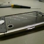 Home gomb elhelyezkedése az iPhone 4 fémvázán