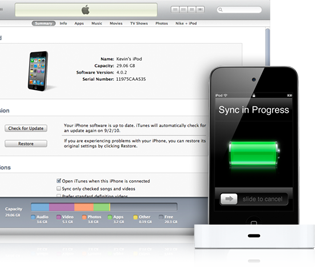 iTunes szinkronizálás