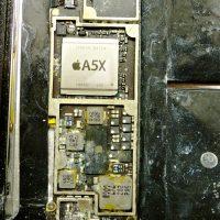 A5X, beázott iPad javítása