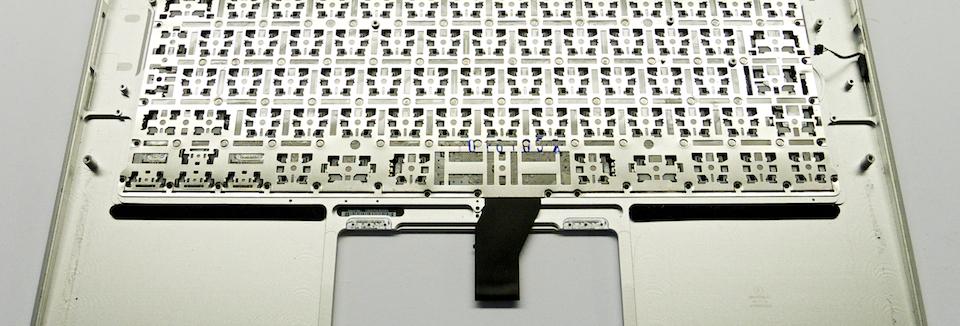 MacBook Air alumínium váz és billentyűzet