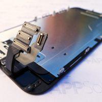 Az iPhone 6 kijelzőmoduljának szalagkábel-korbácsa: LCD, érintőpanel, Touch-ID, előlapi kamera, szenzorok és beszédhangszóró