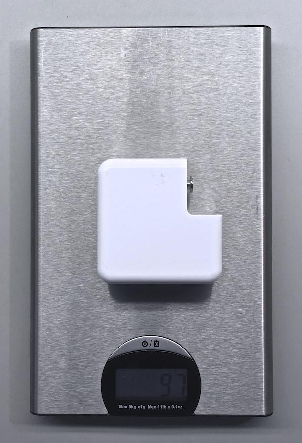 Utánygyártott MagSafe töltő súlya (könnyebb)
