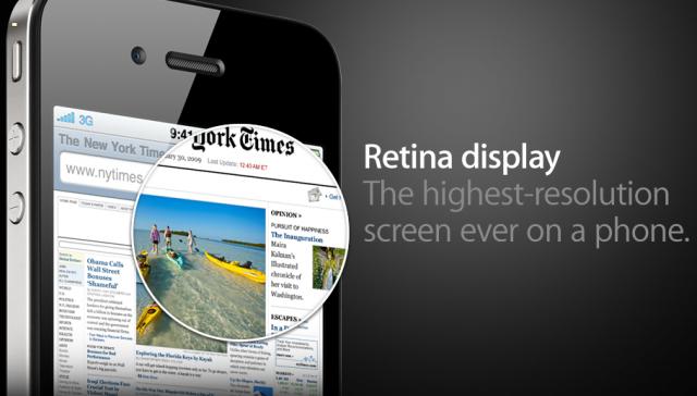 iPhone 4 és a Retina Kijelző