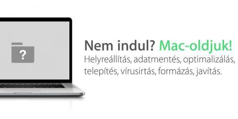 Nem indul? Mac-oldjuk! Helyreállítás, adatmentés, rendszertelepítés, optimalizálás, vírusirtás, formázás, javítás. Apple szerviz, MacBook mentés, MacBook javítás, Mac szervíz, Mac javítás, MacBook adatmentés, Macbook tárhely felszabadítás, macgyógyítjuk, billentyűzettisztítás, nem indul a MacBook, nem indul a Macem