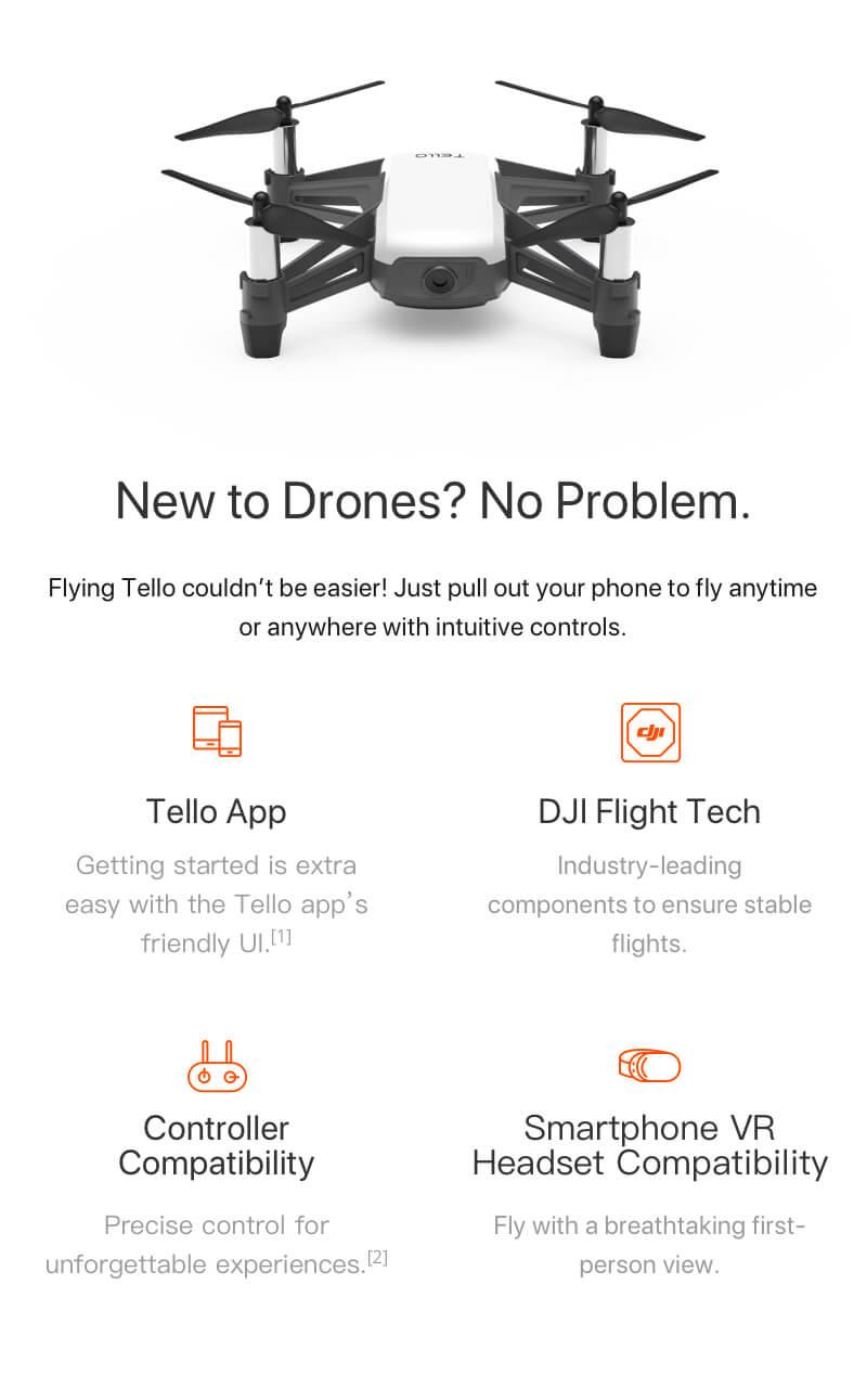 DJI Tello drón, DJI Tello drón, drón gyerekeknek, drón kezdőknek, kezdő drón, DJI belépő kategóriás drón, játék drón, drón fotózás, kamerás drón, drónok olcsón, hd kamerás drón