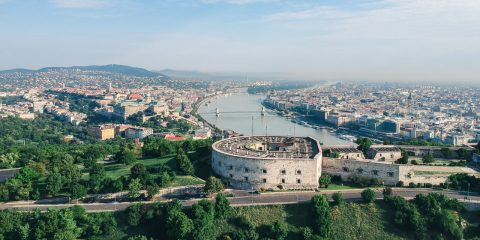 Citadella, Gellért-hegy, drón, DJI, Spark