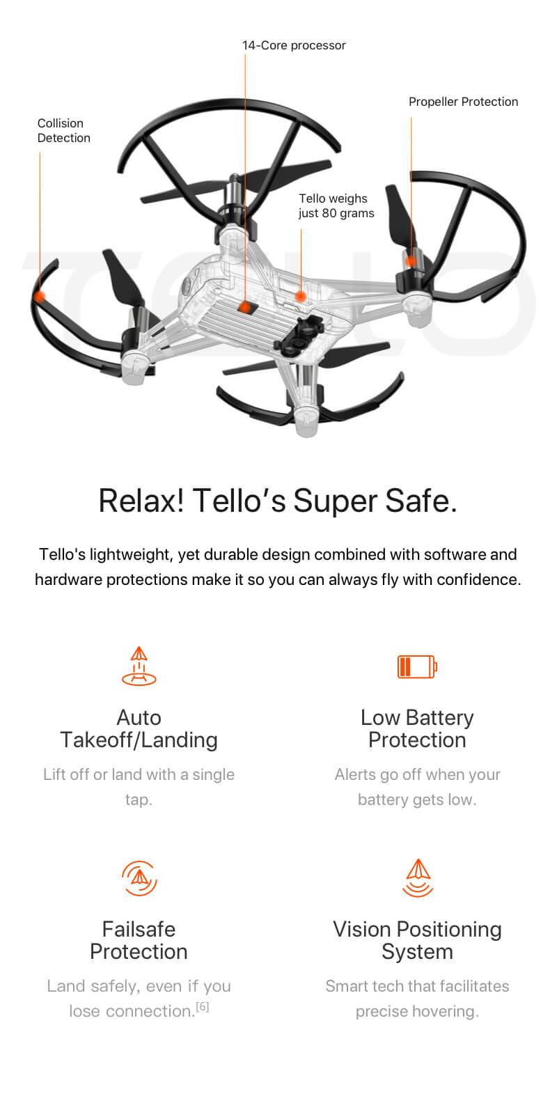 DJI Tello drón, DJI Tello drón, drón gyerekeknek, drón kezdőknek, kezdő drón, DJI belépő kategóriás drón, játék drón, drón fotózás, kamerás drón, drónok olcsón, hd kamerás drón, tello képességei, funkciók, adatok, tello technikai infók