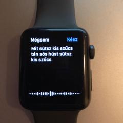 Apple watch 3 teszt, szövegértés, troll