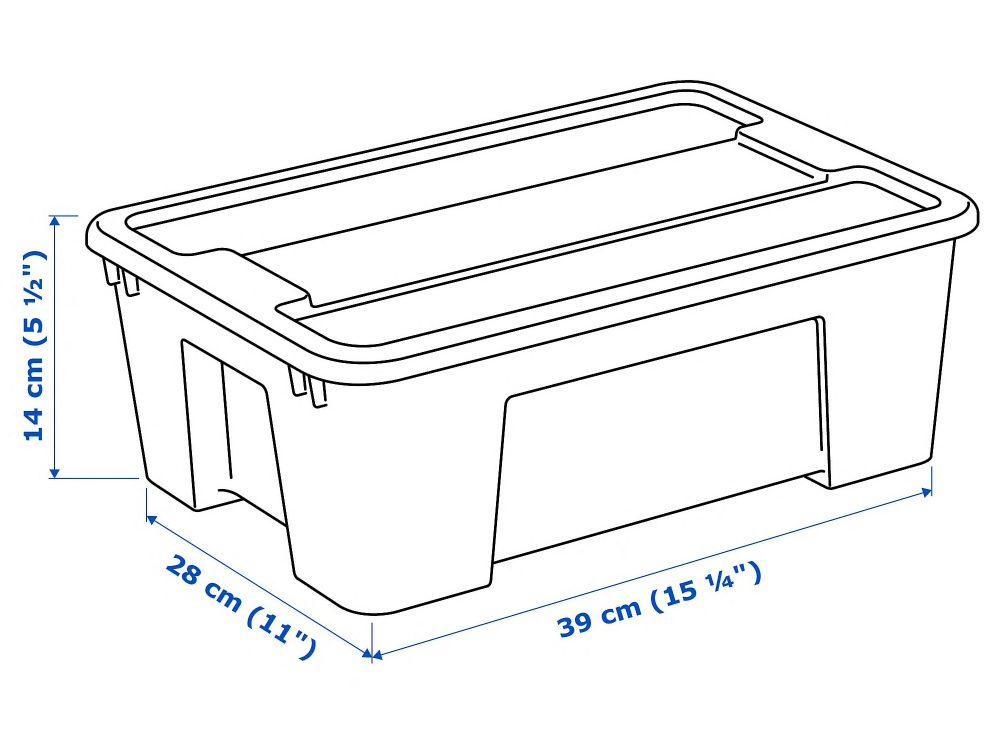 11 literes IKEA Samla doboz – nekünk bevált!