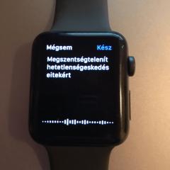 Apple watch 3 teszt, viccelődés az okosóra szövegfelismerő funkciójával