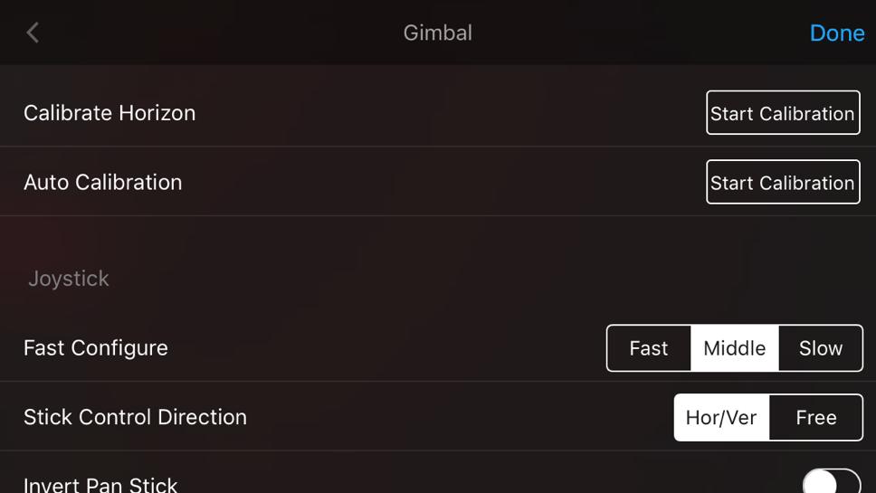 A gimbal és a joystick beállításai, kalibrálás, Osmo mobile 2 tsszt, videóval