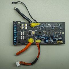 A töltésvezérlő elektronika teteje