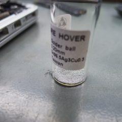 Itt 0,2mm átmérőjű óngolyókat használtuk.