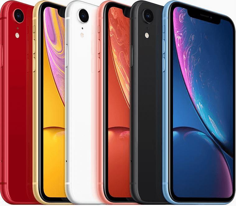 iPhone XR-ek különböző színekben