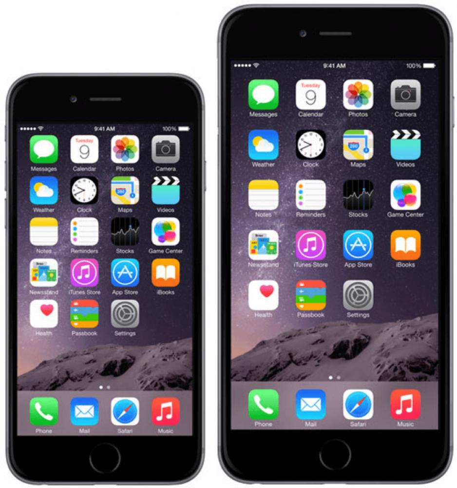 Az iPhone 6 és 6 Plus méretkülönbségei