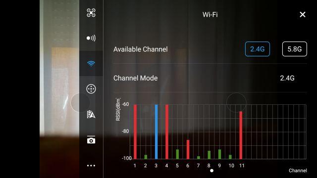 DJI Spark FCC módban: csak 11 csatorna látható