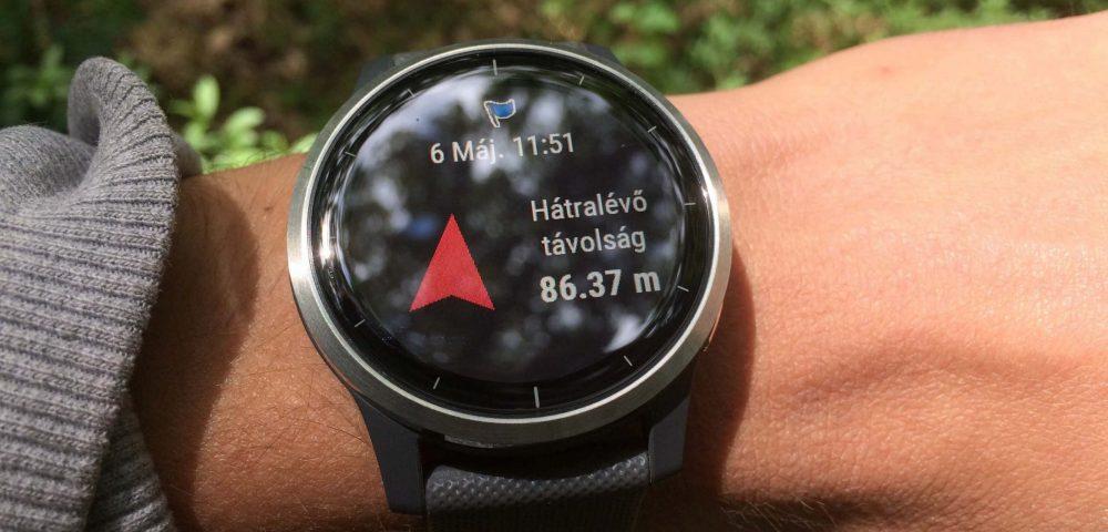 Garmin vívoactive 4 teszt –navigáció az okosóra segítségével