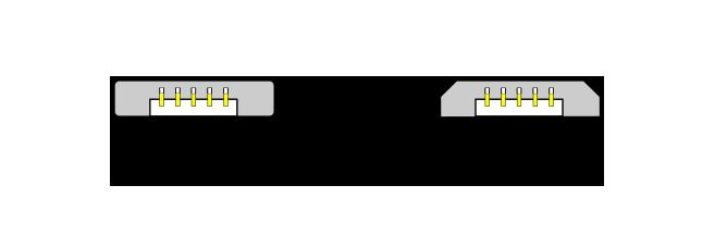 Micro USB A és Micro USB B csatlakozók