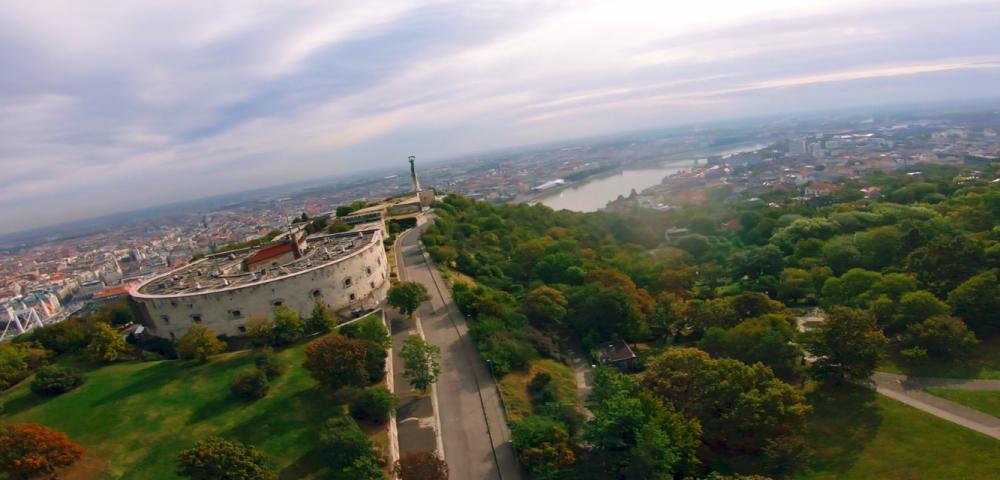 A Citadella látképe madártávlatból