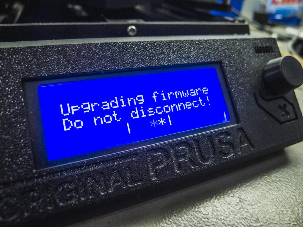 Felküldjük a nyomtatóra a módosított firmware-t